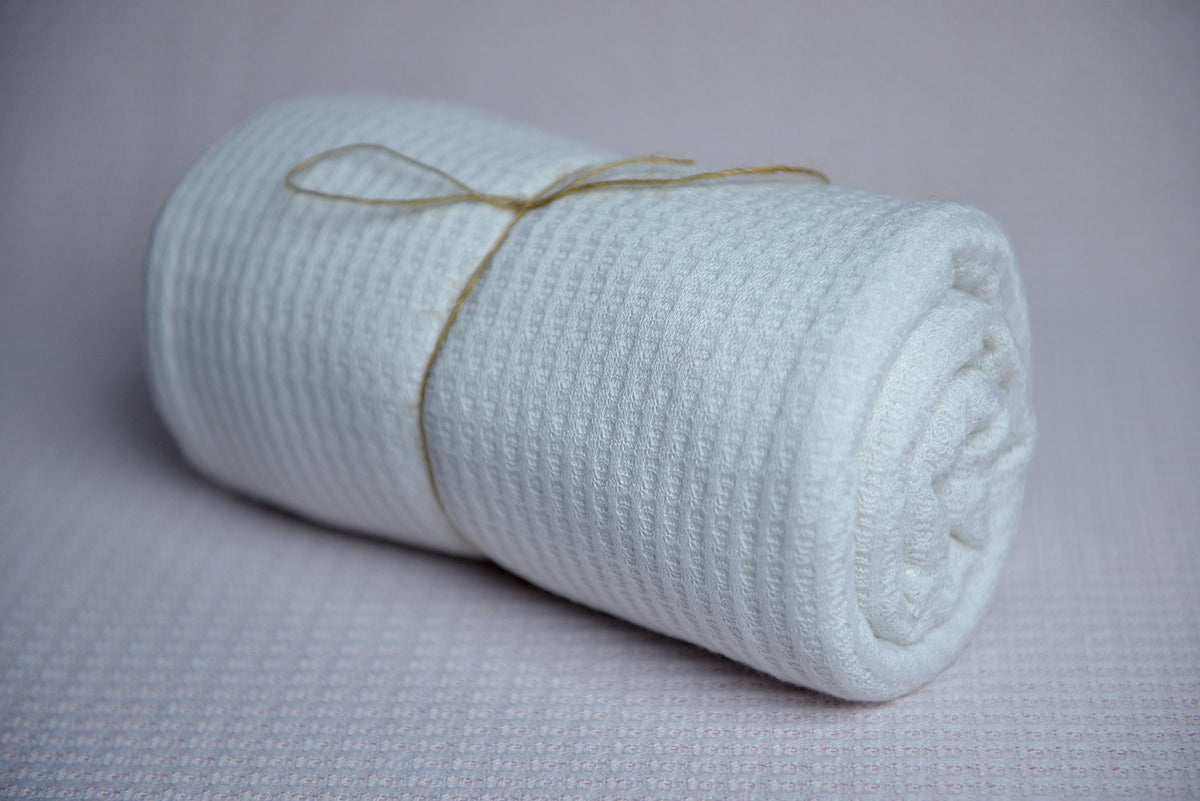Bean Bag Fabric - Perforated - White-Newborn Photography Props