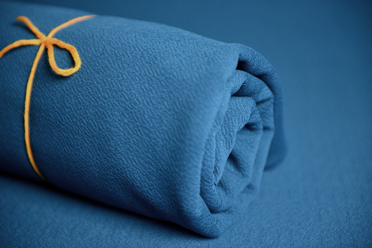 Bean Bag Fabric - Textured - Teal-Newborn Photography Props