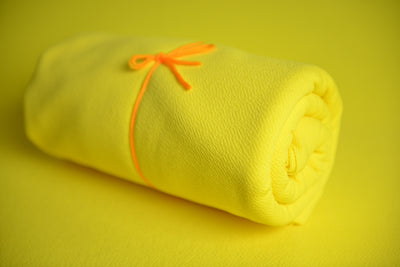 Bean Bag Fabric - Textured - Yellow-Newborn Photography Props
