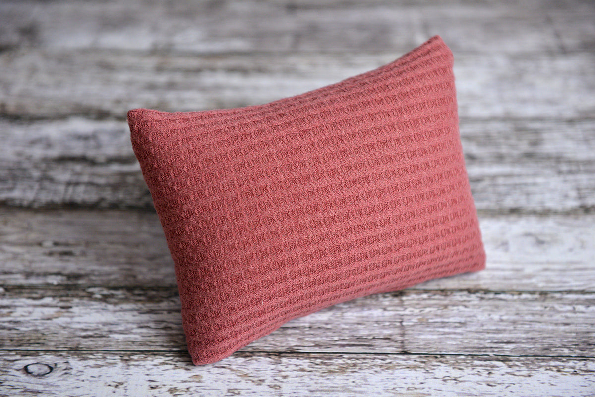 Mini Pillow with Cover - Perforated - Rose-Newborn Photography Props
