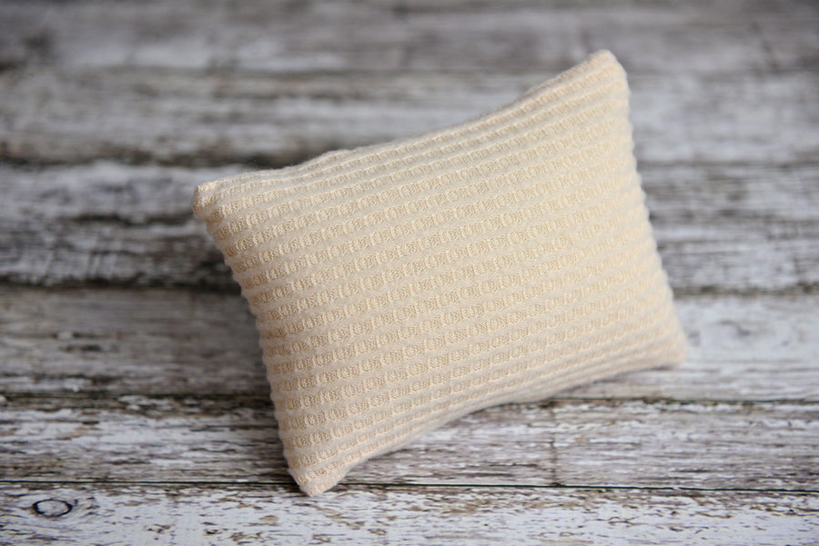 Mini Pillow with Cover - Perforated - Oatmeal-Newborn Photography Props