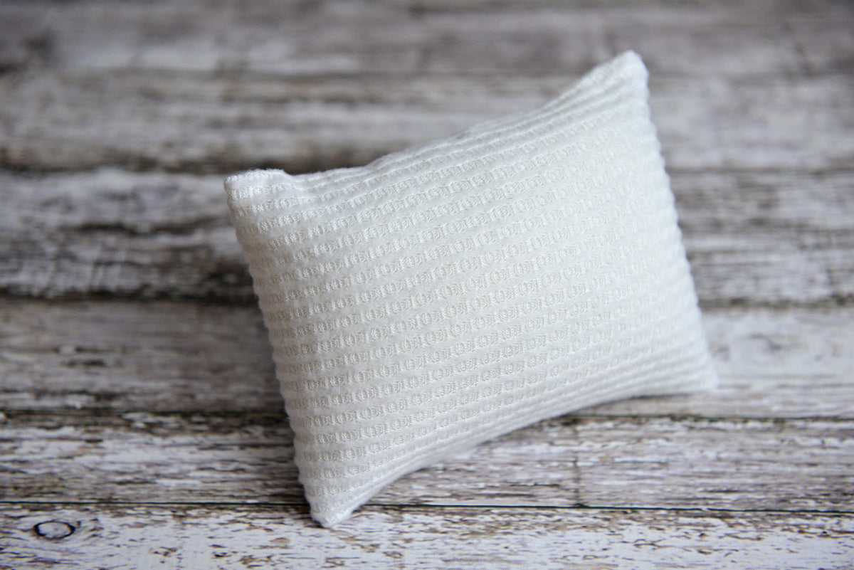 Mini Pillow with Cover - Perforated - White-Newborn Photography Props