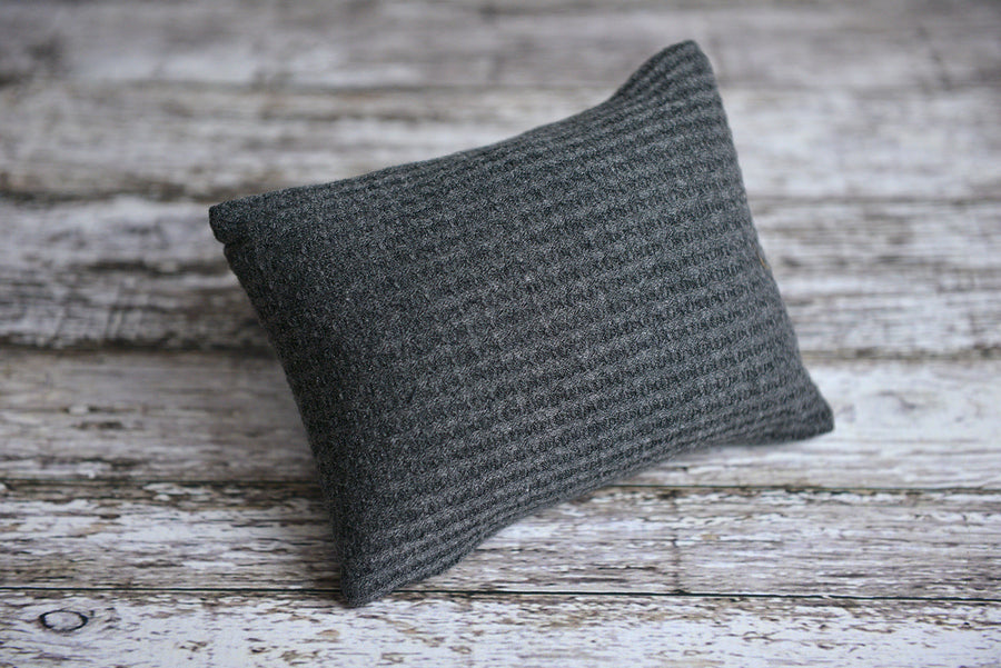 Mini Pillow with Cover - Perforated - Twotone Charcoal-Newborn Photography Props