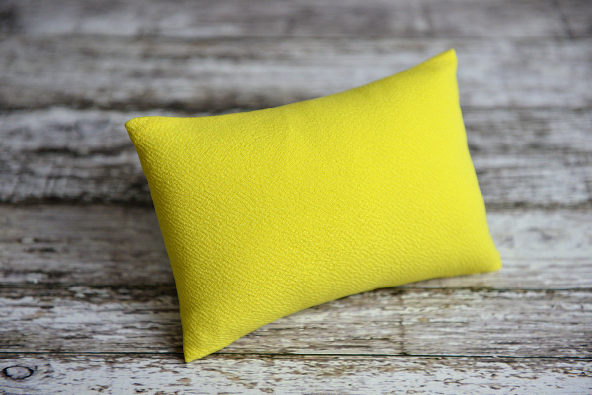 Mini Pillow with Cover - Textured - Yellow-Newborn Photography Props