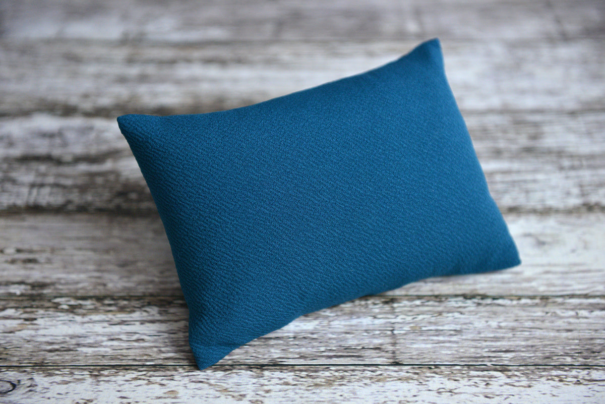 Mini Pillow with Cover - Textured - Teal-Newborn Photography Props