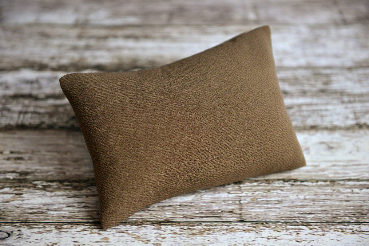 Mini Pillow with Cover - Textured - Mocha-Newborn Photography Props