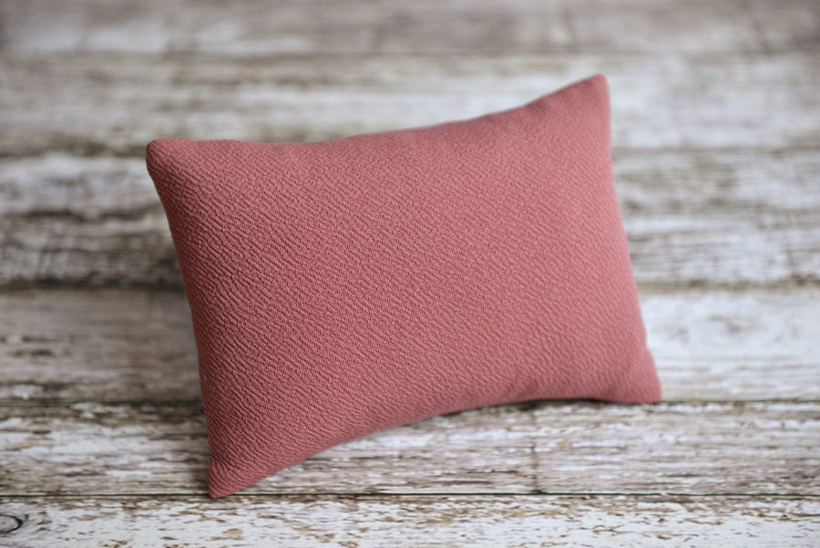 Mini Pillow with Cover - Textured - Mauve-Newborn Photography Props