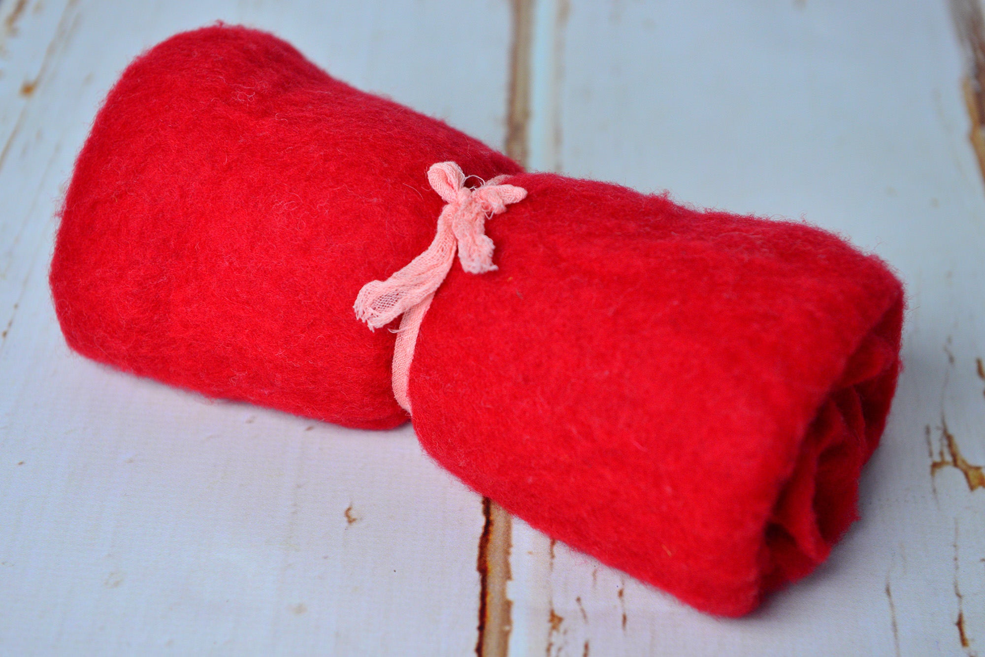 Wool Wrap - Red-Newborn Photography Props