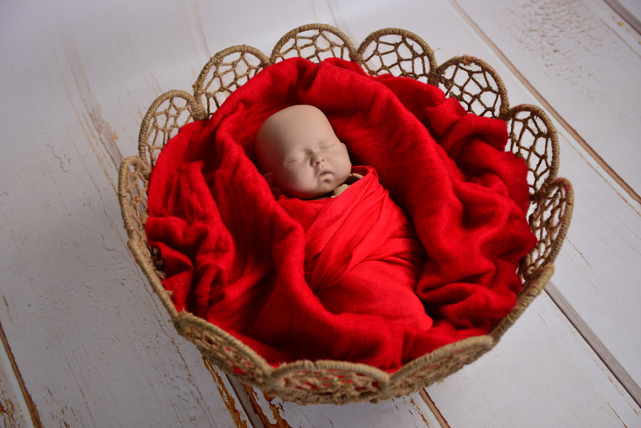 Wool Wrap - Red