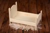 Rustic Bed - Curved Headboard - Off White