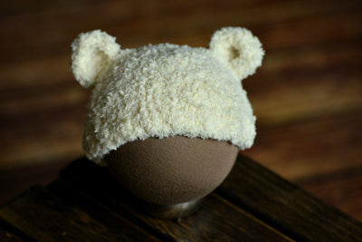 Teddy Bear Hat - Beige-Newborn Photography Props