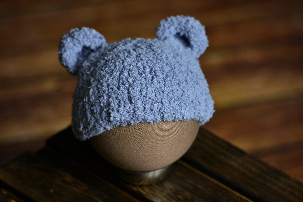 Teddy Bear Hat - Gray-Newborn Photography Props