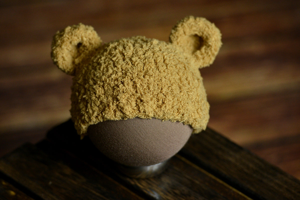 Teddy Bear Hat - Brown-Newborn Photography Props
