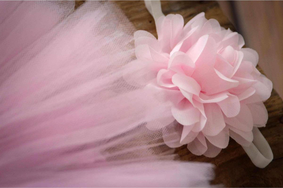 Tutu and Headband - Pink-Newborn Photography Props