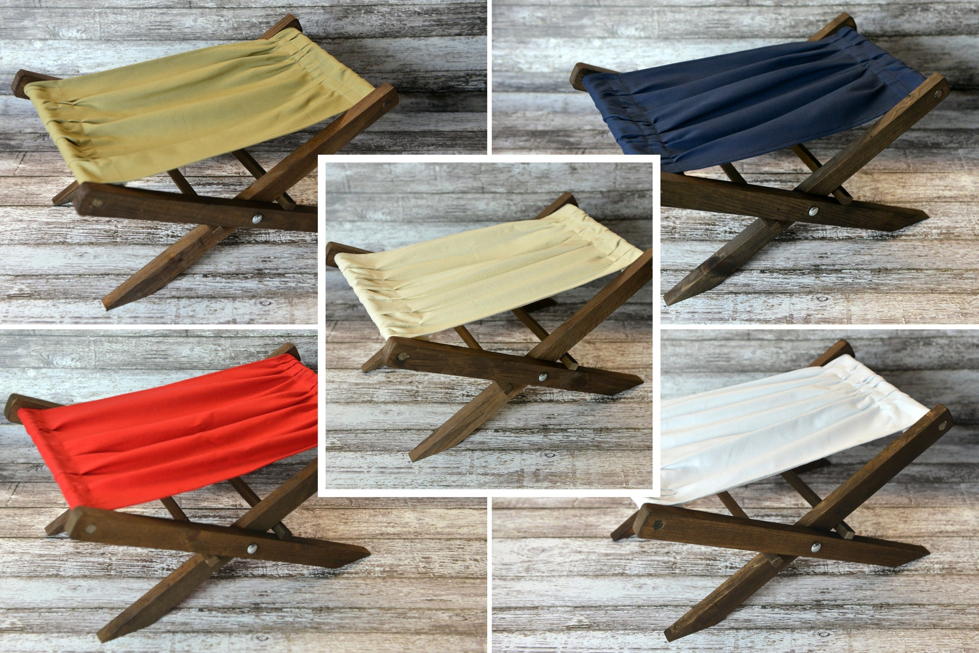 Rustic Deck Chair - 5 Colors - Interchangeable-Newborn Photography Props