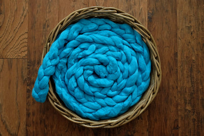 Wool Braid - Acid Blue-Newborn Photography Props