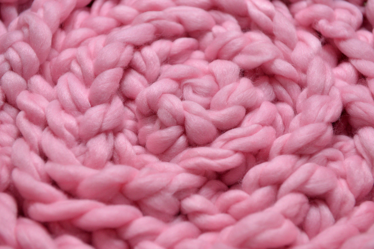 Wool Braid - Baby Pink-Newborn Photography Props