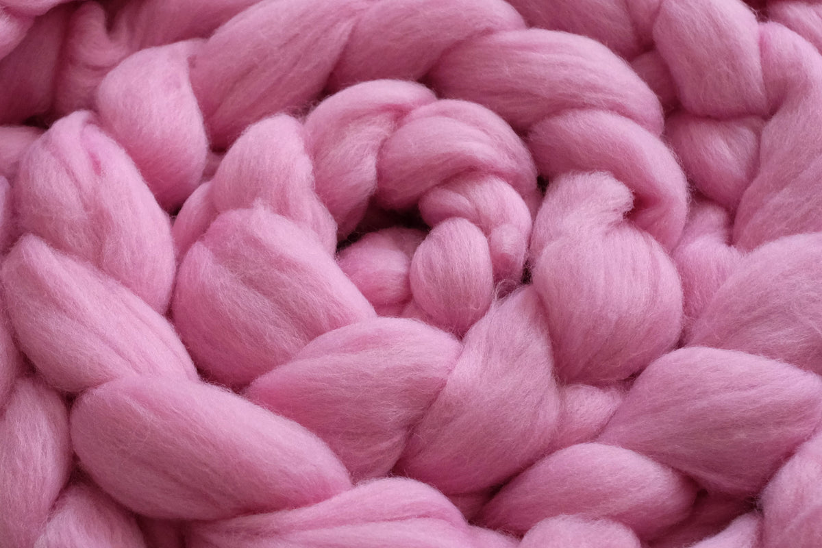 Wool Braid - Lotus Pink-Newborn Photography Props