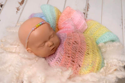 Mohair Wrap - Rainbow-Newborn Photography Props
