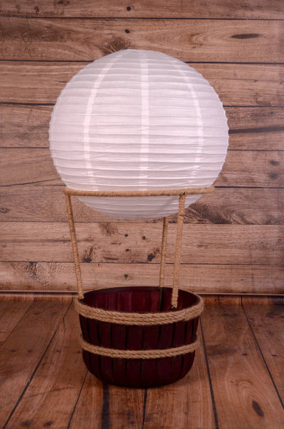 Hot Air Balloon Basket AND 6 Balloons-Newborn Photography Props