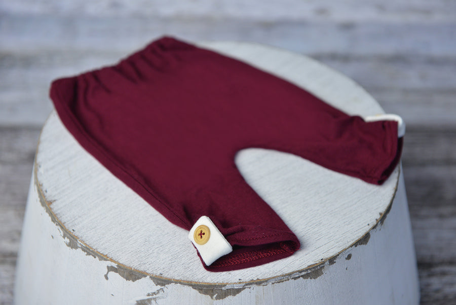 SET Basic Boy with Patch - Burgundy