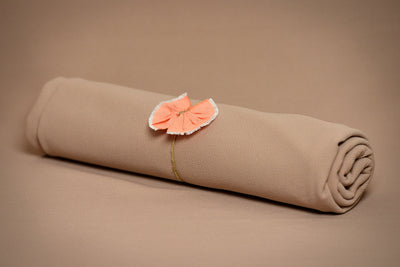 Matching Mini Pillow with Cover AND Bean Bag Fabric - Textured - Khaki-Newborn Photography Props