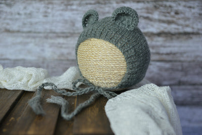 Mohair Bear Bonnet for newborn photography