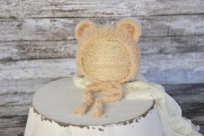 Bear Bonnet and Suit for baby photography