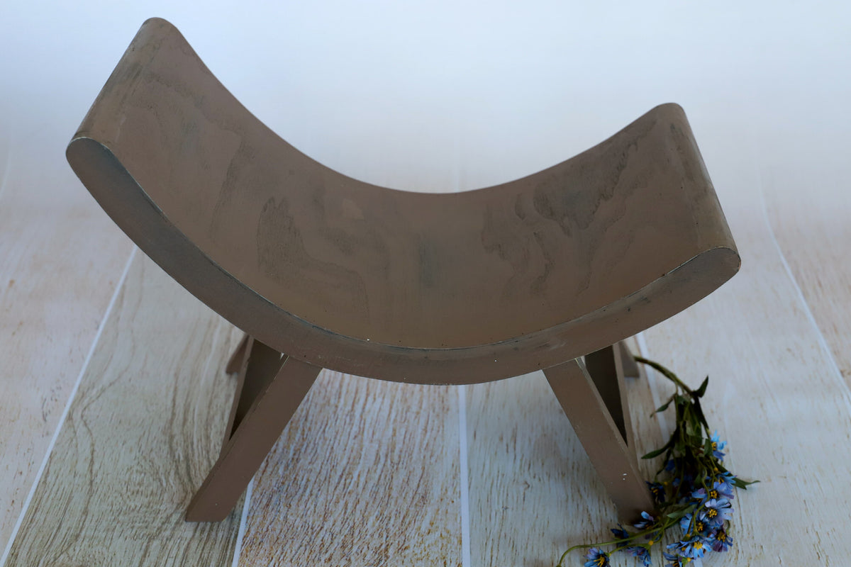 Curved Vintage Bench - Model 1 - Brown