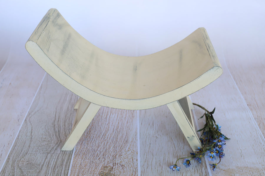 Curved Rustic Bench for Newborn Photography