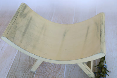 Curved Vintage Bench - Model 1 - Cream