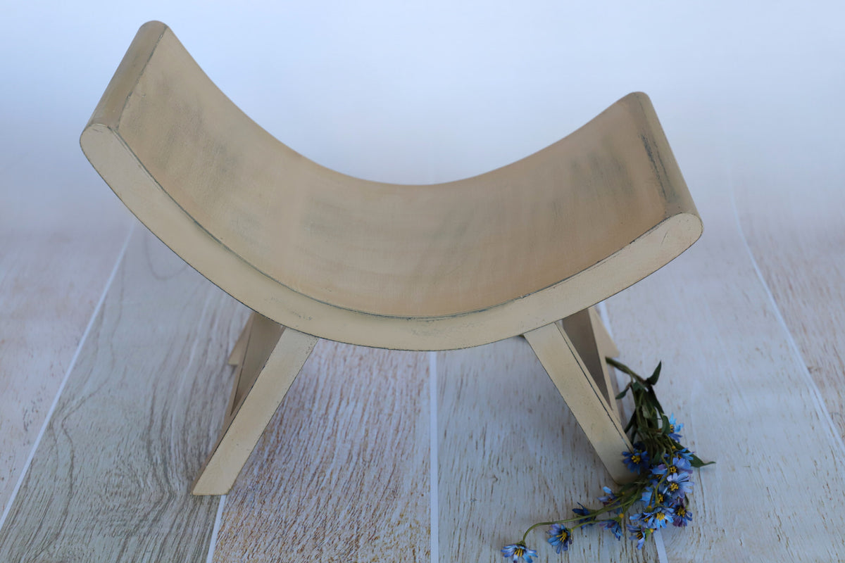Curved Vintage Bench - Model 1 - Light Brown