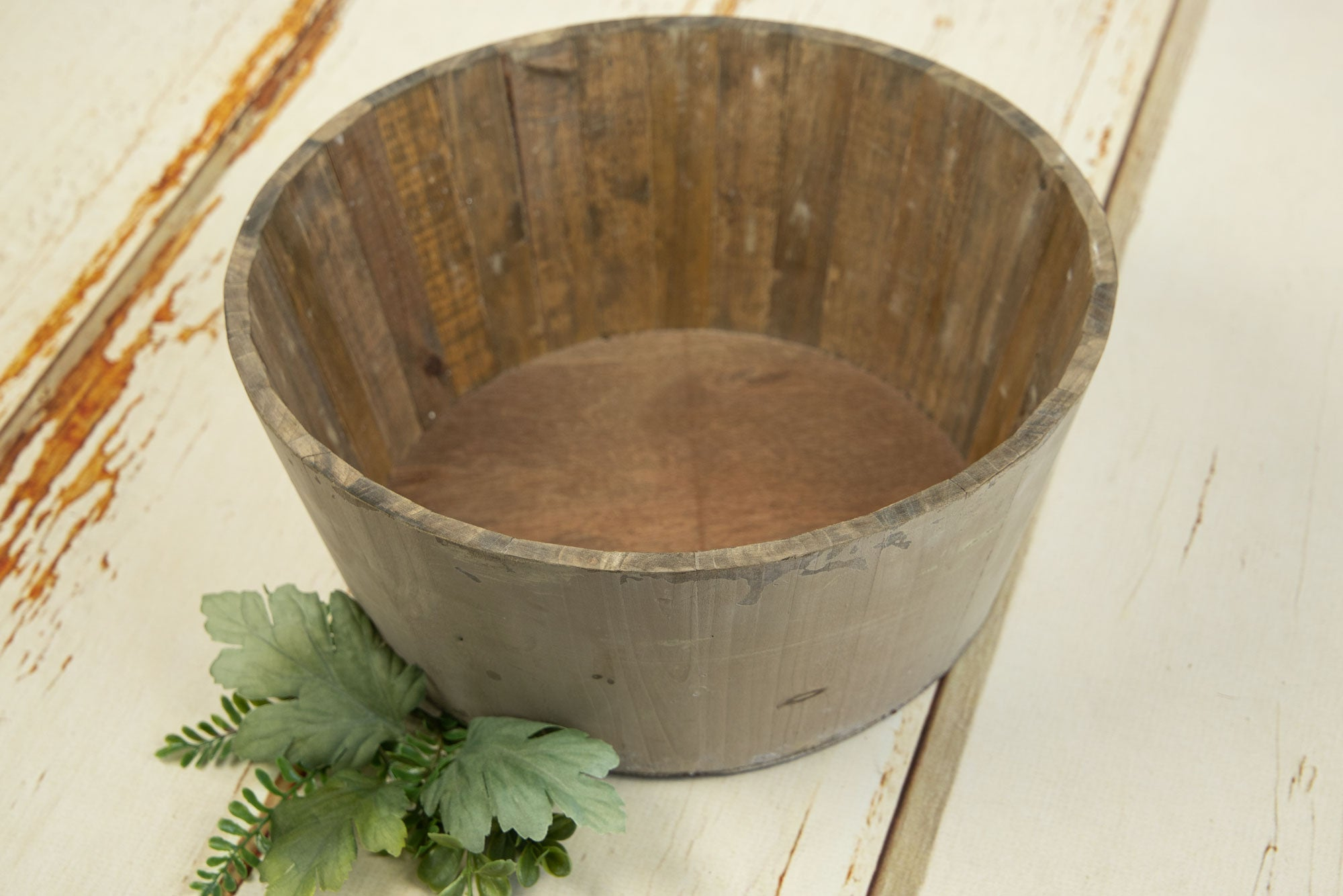 Rustic Bucket - 14in - Light Brown