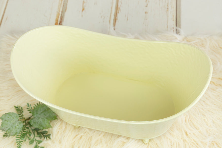 Footed Vintage Bathtub - Bumpy Textured - Off White