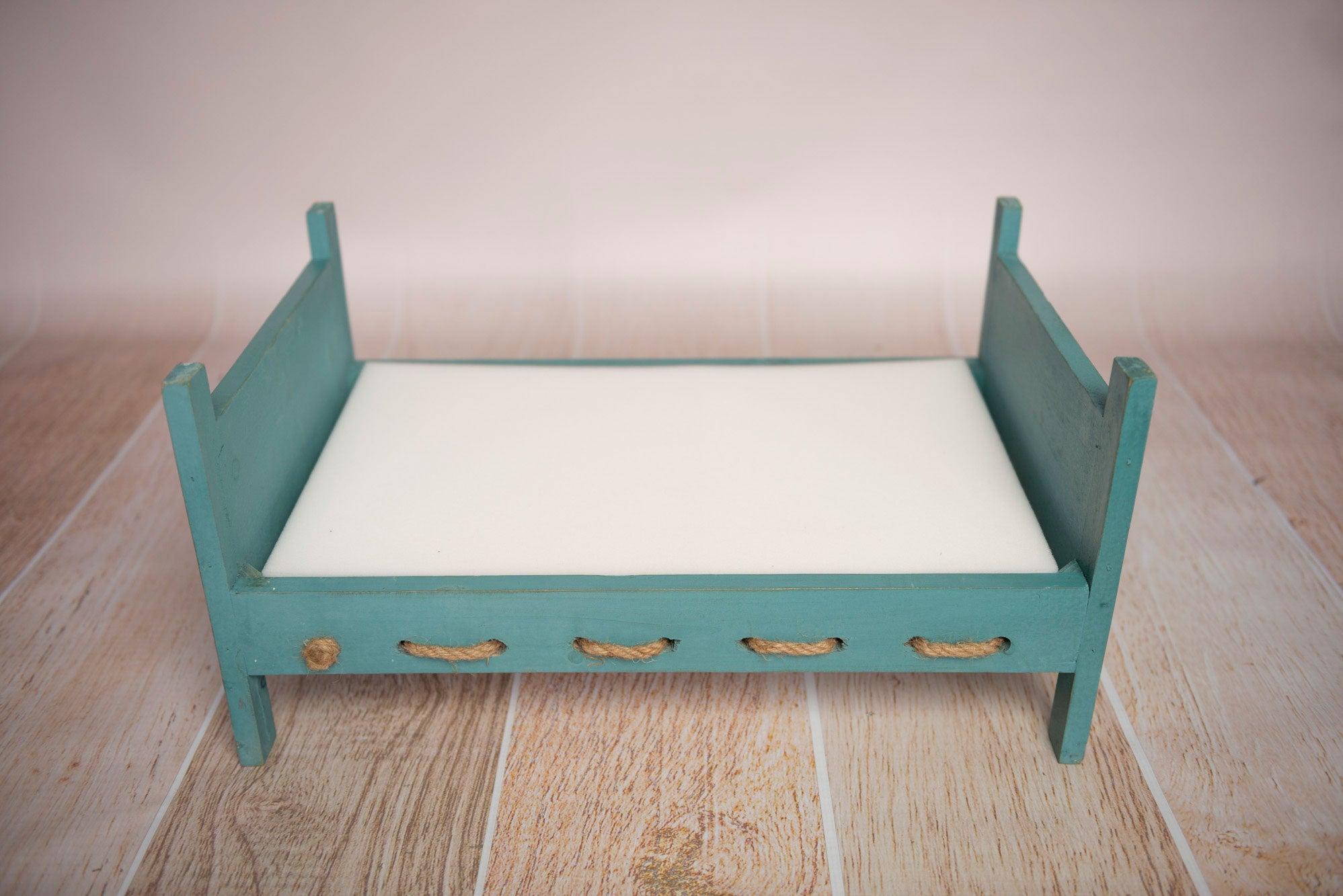 Rustic Daybed with Rope Springs - Greenish Blue (DISCONTINUED)