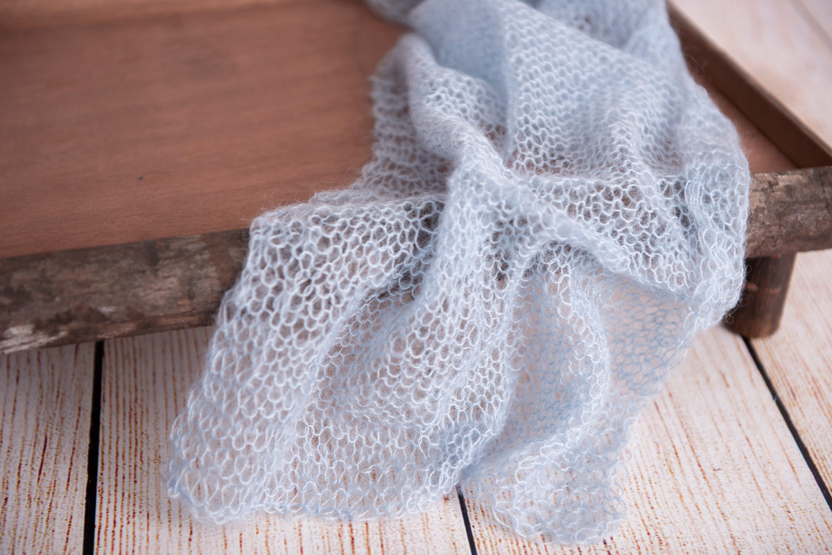 Mohair Wrap - Cloud