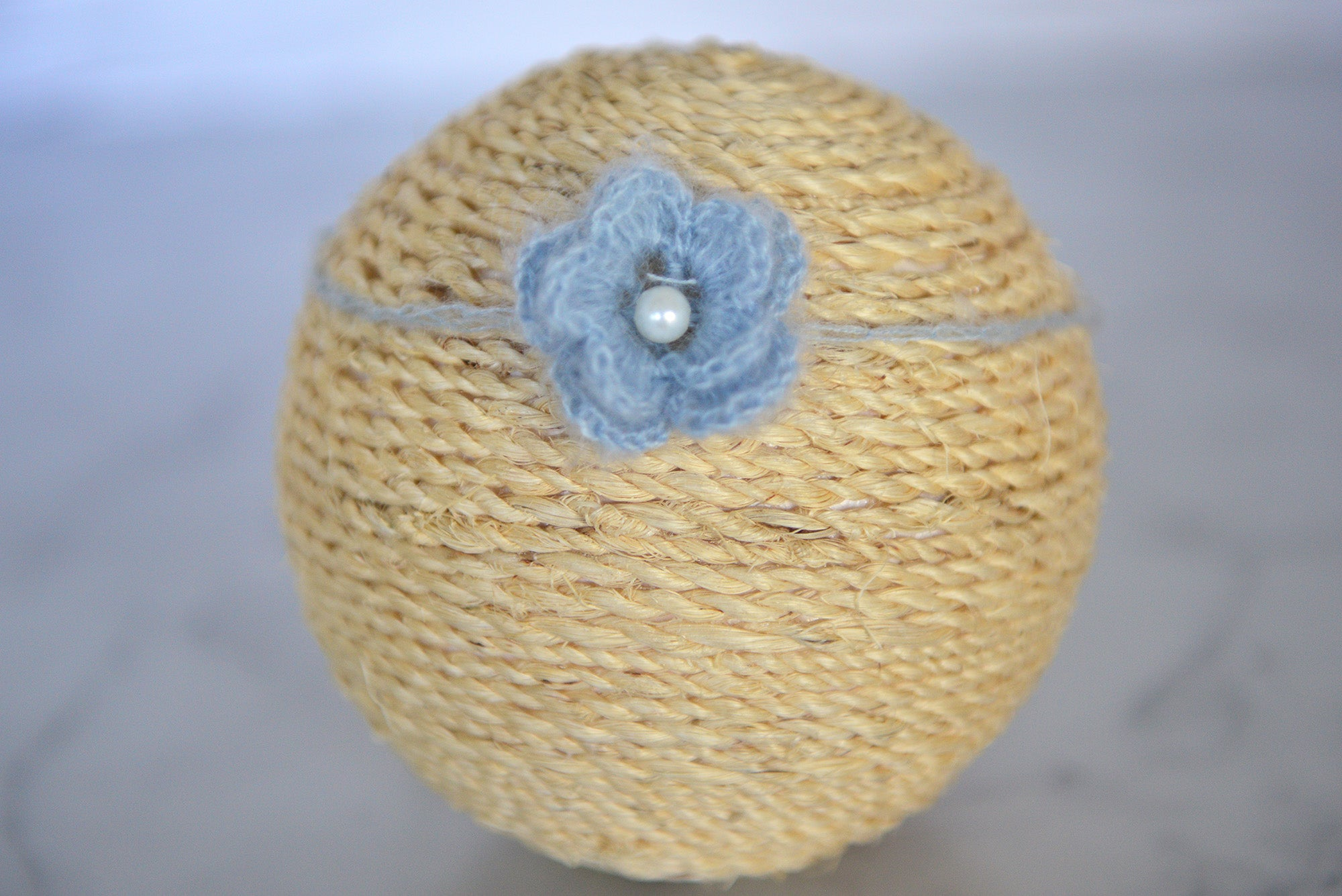 Mohair Flower Headband - Cloud