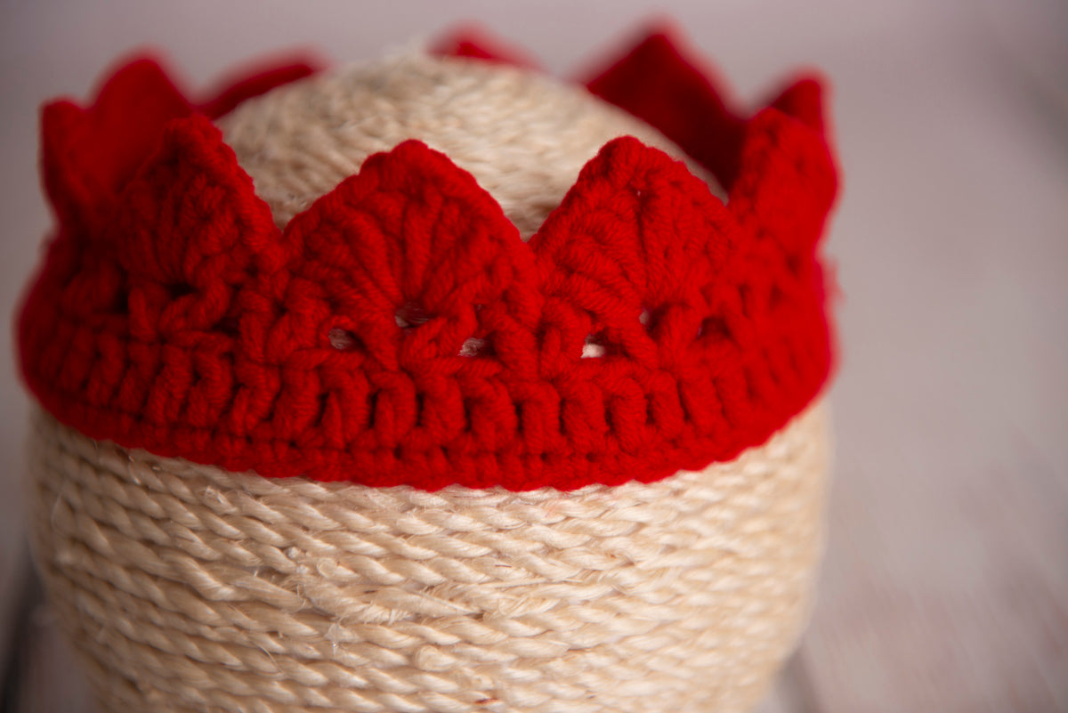 Crochet Crown - Red