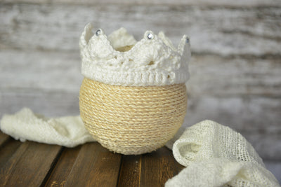 Crotchet Crown with Gems-Newborn Photography Props