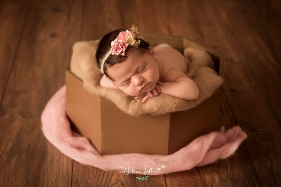 Rustic Bucket - Octogonal - Brown-Newborn Photography Props