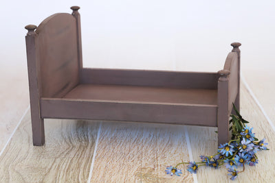 Rustic Bed - Curved Headboard - Brown