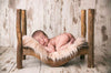 Curved Rustic Bed-Newborn Photography Props