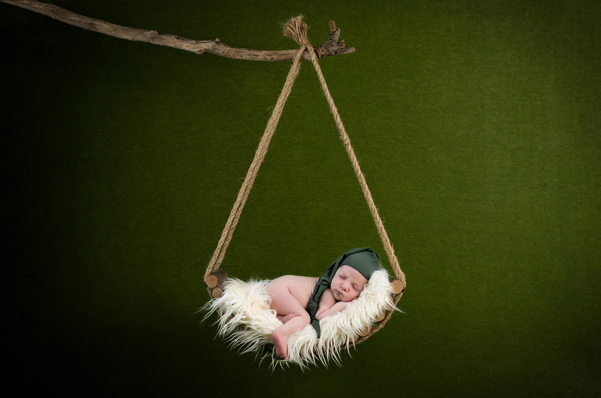 Rustic Swing for newborn photography prop