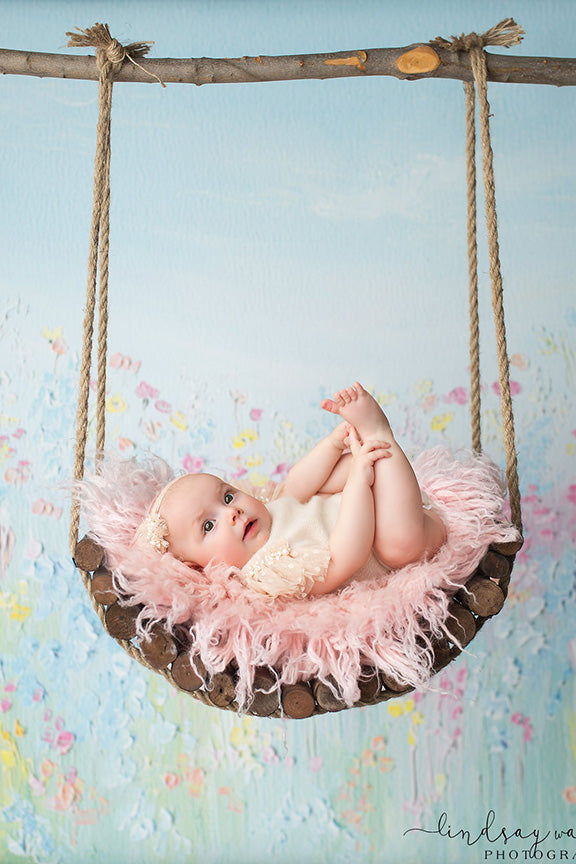 Curved Rustic Swing-Newborn Photography Props