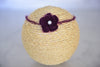Mohair Flower Headband - Dark Violet