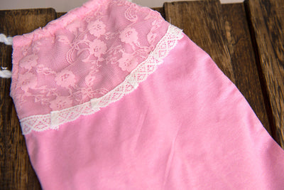 Adjustable Lace Overall - Light Pink