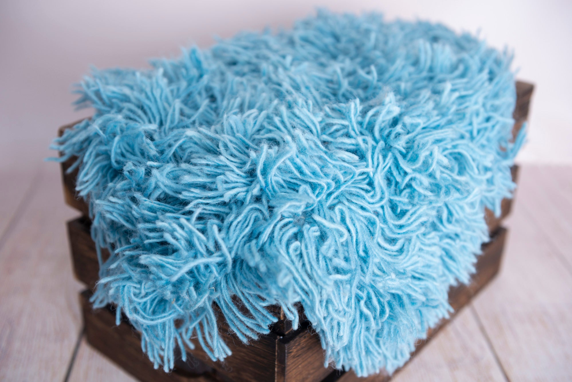 Flokati Rug - Blue - Small