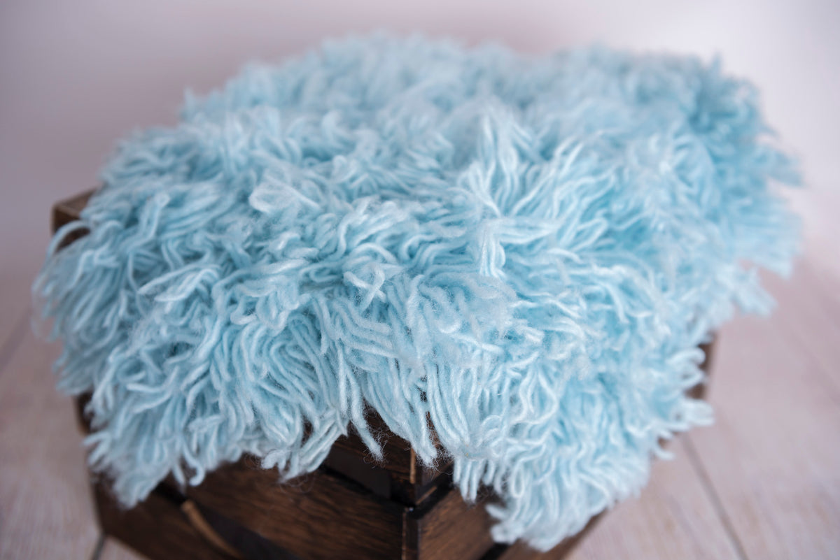 Flokati Rug - Sky Blue - Medium
