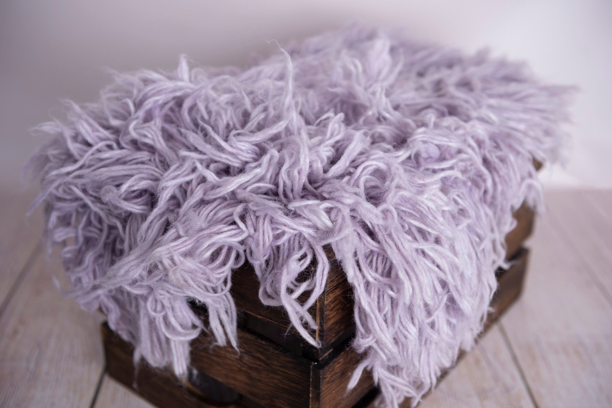 Flokati Rug - Dusty Lavender - Small