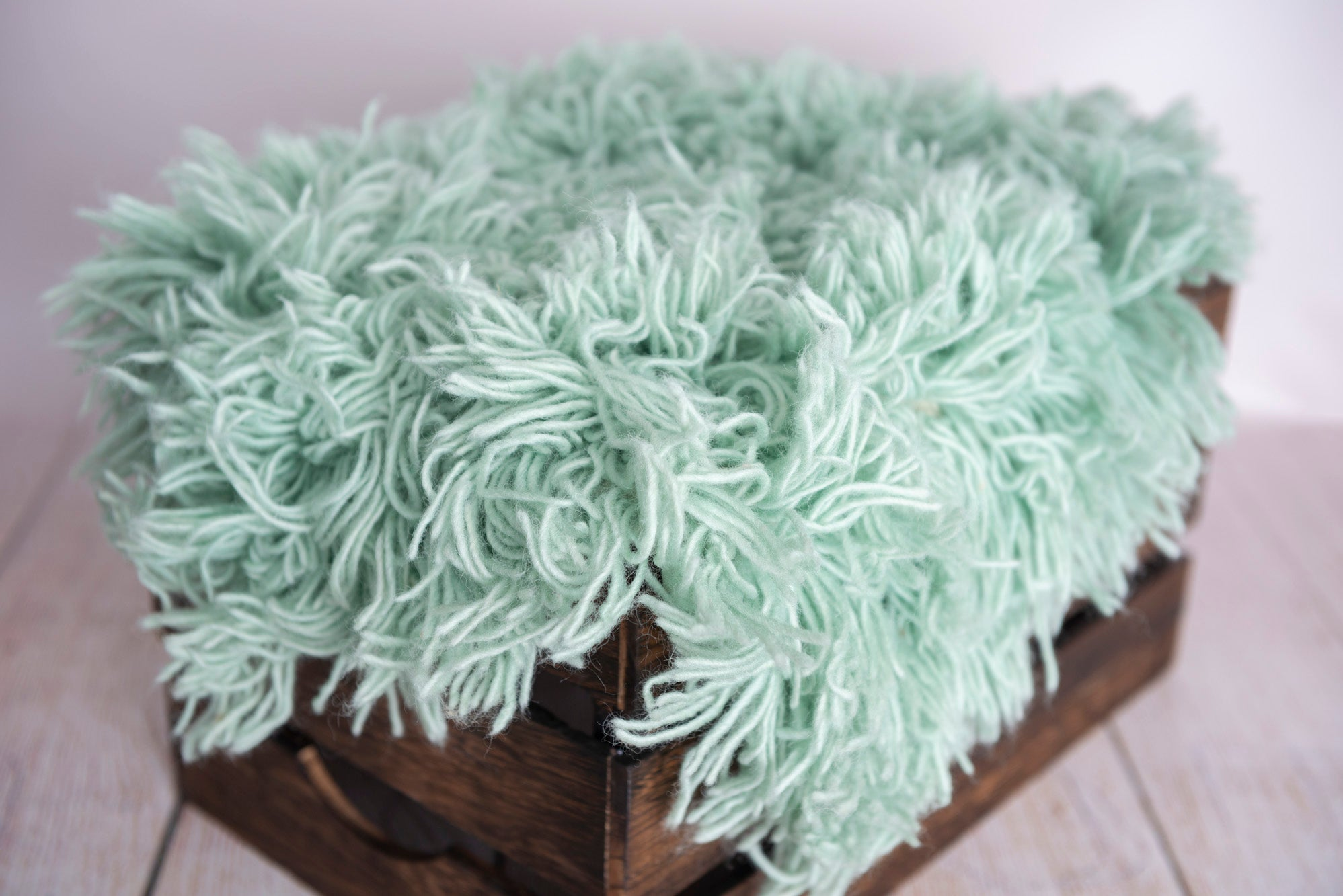 Flokati Rug - Mint - Medium